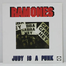 "RAMONES / NEW YORK DOLLS - Judy is a punk / Human being 7"" 2001 SAW SHAPED DISC"