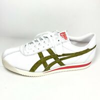 Asics Onitsuka Tiger Corsair Men's athletic shoes White/Green 1183A199 Sz 10 New