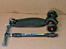 3 Wheel Kick Scooter Coolplay Scooter With Led Light Up Wheels Black