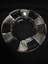 "Lalique France Crystal Cuba Cigar Ashtray Dish 5 3/4"" Mint"