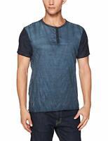 Buffalo David Bitton Men's Indigo Kamink Henley T-Shirt Sz S $39 NEW