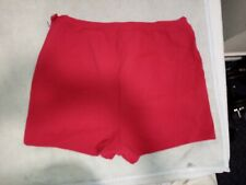 Sports Shorts Womens Vtg polyester retro tennis Gym Casual helanca uk 12