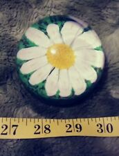 Beautiful Antique KB Daisy Murano Glass Daisy Paper Weight Paperweight Scarce