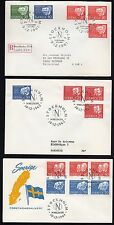 SWEDEN 1961-1968 NOBEL PEACE PRIZE WINNERS FOR 8 YRS ALL ON 8 FDC's