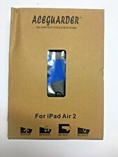 iPad Air 2 Case, Aceguarder Rubber Case with Stand Blue/black