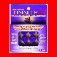 Tinnitex Earplugs Natural lipo vibes Tinnitus Relief Ringing in the Ear 6 Pair