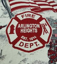 Chicago Arlington Heights Fire Dept Heavy Knit Blanket Firefighter Wall Hanging