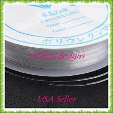 3 Rolls .4mm Crystal Elastic Beading Thread Jewelry Findings Bracelet Necklace