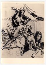 S/M SADOMASO SPANKING BONDAGE NUDE * 50s Photo of 1930s LÉON PIERRE Drawing #10