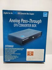 Digital Stream Analog Pass-Through DTV Converter Box DTX9950 Brand New