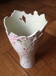 """Lenox Pink Cherry Blossom Medium Vase 782520 9 1/2"""" Tall"""
