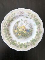 "Royal Doulton Brambly Hedge Spring Jill Barklem 1982 Salad Plate 8"" Birthday"