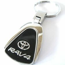 RAV4 RAV 4 KEY CHAIN RING FOB TOYOTA XLE LIMITED SUV V6 2017 2016 BLACK NEW