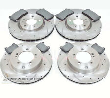 MITSUBISHI LANCER EVO 6 7 8 9 MR FQ 300 320 340 FRONT AND REAR BRAKE DISCS PADS