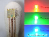 10x Farbmischer LED 0605 RGB winzig +Cu-Draht 0,1mm rot grün blau red green blue