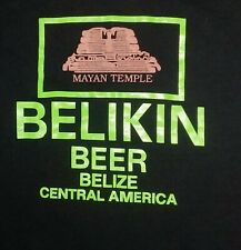 vintage Beer Belikin Belize Souvenir Mayan Temple t shirt S Small Budweiser