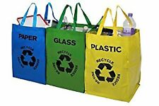 Recycle Bags-Set di 3, Multicolore