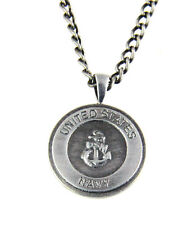 Medallion Armed Services Dogtag Dog Tag 6030149 Us United States Navy Necklace