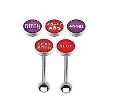 Logo Tongue Bar - Choose Design and Bar Length: 10mm 12mm 14mm 16mm