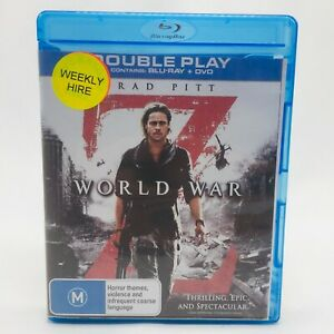 World War Z (Blu-Ray DVD, 2013) Region B With Brad Pitt In Like New Condition