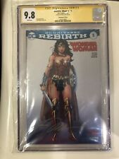 WONDER WOMAN 1 SILVER FOIL CGC SS 9.8  NM/MT Signed JIM LEE CONVENTION VARIANT