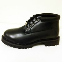 """New Men's Ankle Boots Black Genuine Leather 5"""" Work Boots Oil Resistant, Sizes"""
