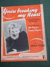 Partituras-Gracie Fields-estás rompiendo mi corazón