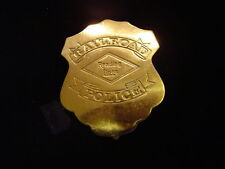 Badge: Railroad Police, Reading Lines, brass, Lawman, Old West