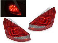 DEPO Red/Clear LED Tail Lights For 2011-2012 Ford Fiesta 3D Hatchback Euro Spec