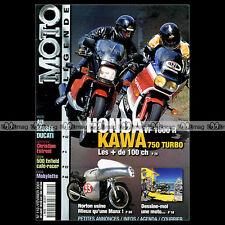 MOTO LEGENDE N°110 HONDA VF 1000 R KAWASAKI ZX 750 TURBO NORTON 500 DKW 125 RT