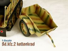 TOY MODEL Full Metal German Sd.kfz.2 Kettenkrad Trailer 1/6 Camouflage Version