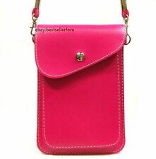 2 Slot Leather Cross-body Bag Cell Phone iPhone 7 Plus Samsung Galaxy Note Pouch