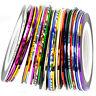 10x Colors Roll Striping Tape Line Nail Sticker Nail DIY Kit Nail Art UV Gel Tip