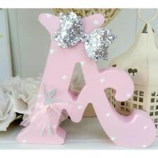 Ballet themed girls freestanding wooden pink 15cm letter/name gift chic