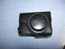 Canon Powershot ? black Leather Camera Case UNKNOWN MODEL GENUINE
