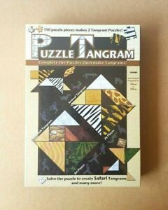 New - Safari Puzzle Tangram Blue Opal 110 Puzzle Pieces Makes 2 Tangram Puzzles