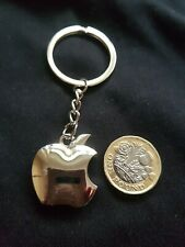 Apple Novelty Key Ring Key Chain SILVER LARGE