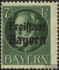 Bayern 154A postfrisch 1919 König Ludwig mit Aufdruck
