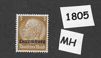 1940 Stamp / MH PF03 / Luxembourg Overprint Hindenburg  / German Occupation WWII