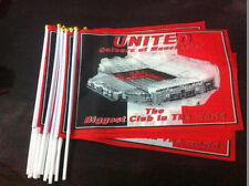 "A PARCEL OF 100 Man United Hand Flag approx 12"" x 18"" Manchester United. JOB LOT"