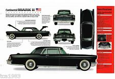 1956 / 1957 LINCOLN CONTINENTAL MARK 2 SPEC SHEET / Brochure, Ford