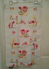 "Vintage Kitchen Towel Mexican Pottery Burros Cactus Houses 27 1/2"" x 16 1/2"""