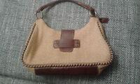 Handtasche Matias Salva, Materialmix Leder und Naturfaser