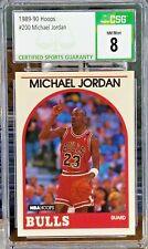 GOAT 1989-90 Hoops 200 Michael Jordan Chicago Bulls CSG 8 NM Mint Graded Slab