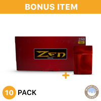 10 Boxes Zen Full Flavor King Size Cigarette Tube Tobacco Red & bonus case