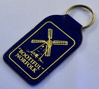 Bootiful Norfolk Leather Keyring/Keyfob - Retro Souvenir - UK - Windmill Broads