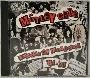 Motley Crue : Decade of Decadence '81- '91(CD 1991) Very Good