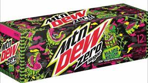 Mountain Dew Major Melon Zero Sugar ,12 oz (pack of 12) @ 355ML-March 29 ,2021