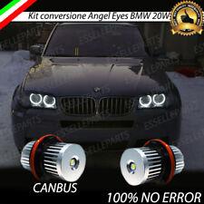 COPPIA LAMPADE LUCI POSIZIONE LED BMW x3 E83 2006- 2007 ANGEL EYES 6000K BIANCO