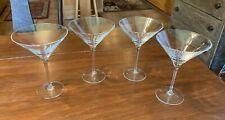 Set of 4 Signed Ralph Lauren Crystal Martini Glasses